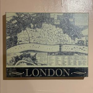 Other - London Map Box Wall Decor